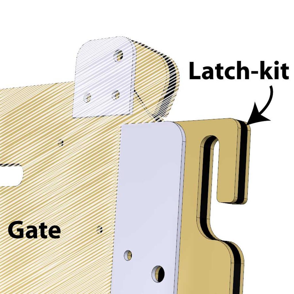 dog kennel gate latch-kit.