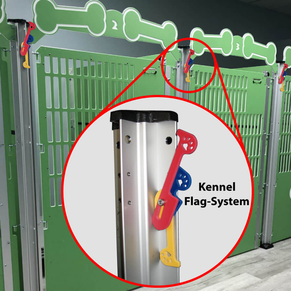 Kennel flag marking system.
