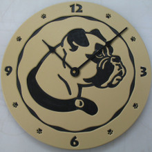 Boxer clock - tan.