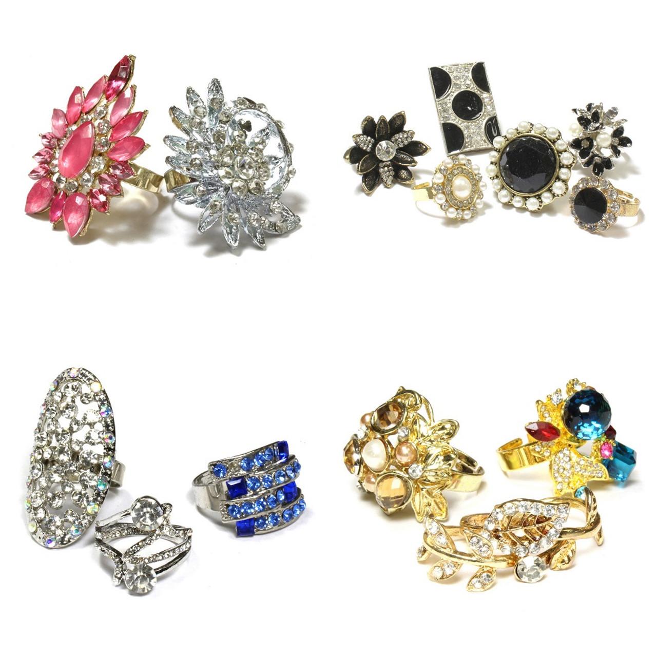 1047) Wholesale Assorted Designs Stylish Rings Women Fashion ...