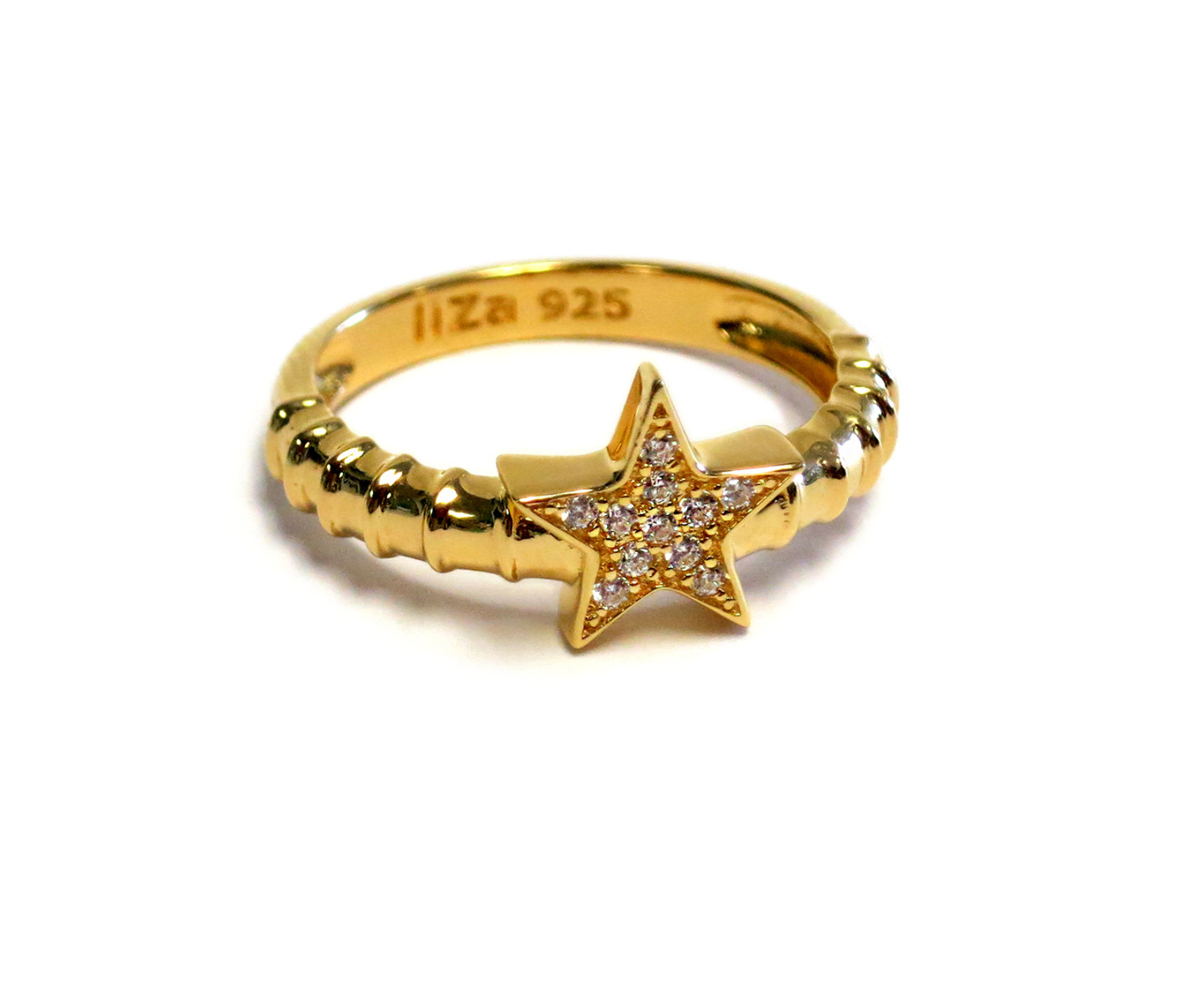 Touch Star Ring Gold