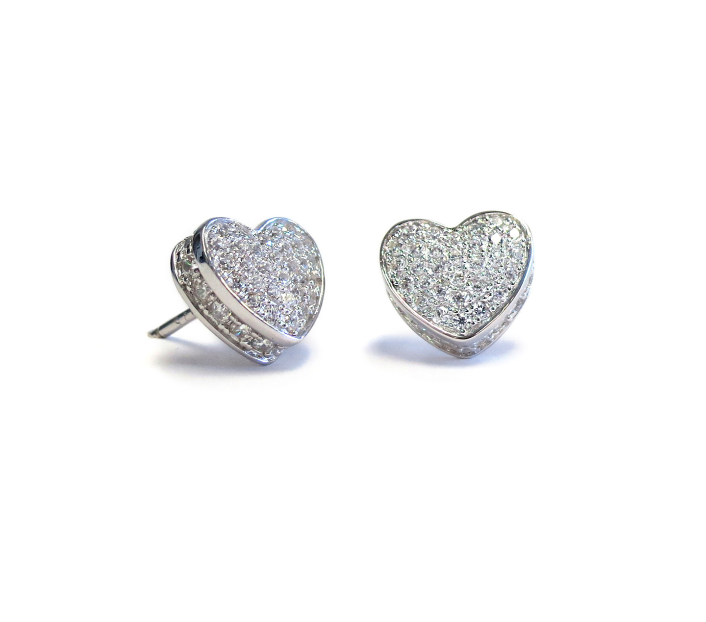 lrg heart shop silver by earrings stud jewellery item written gravestock laura
