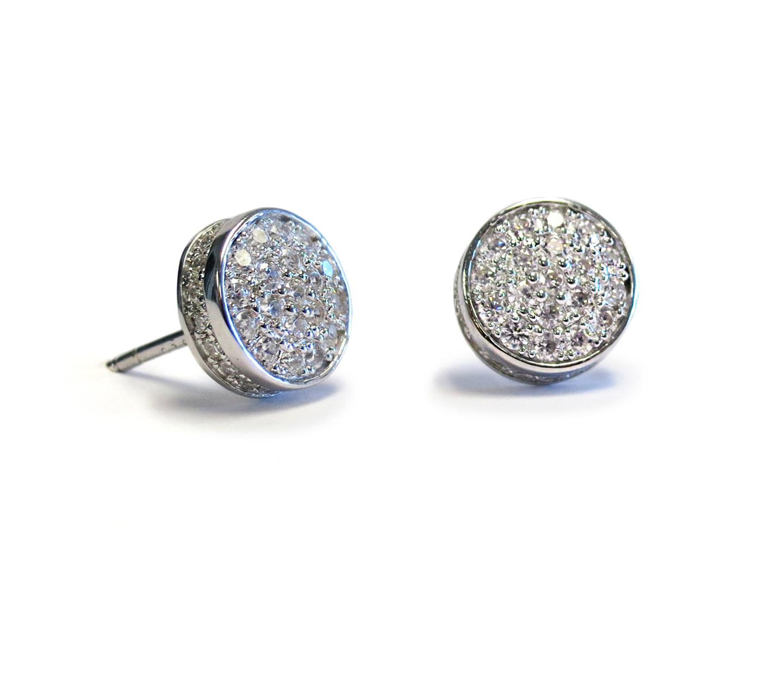 Touch Solar Stud Earring Silver