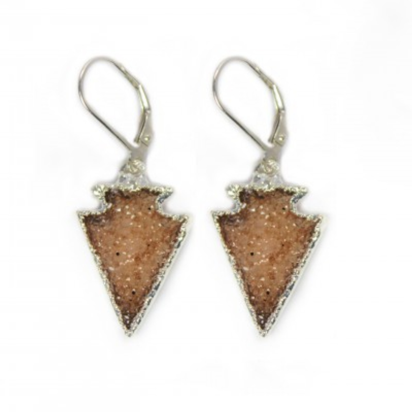Druzy Arrow Earrings