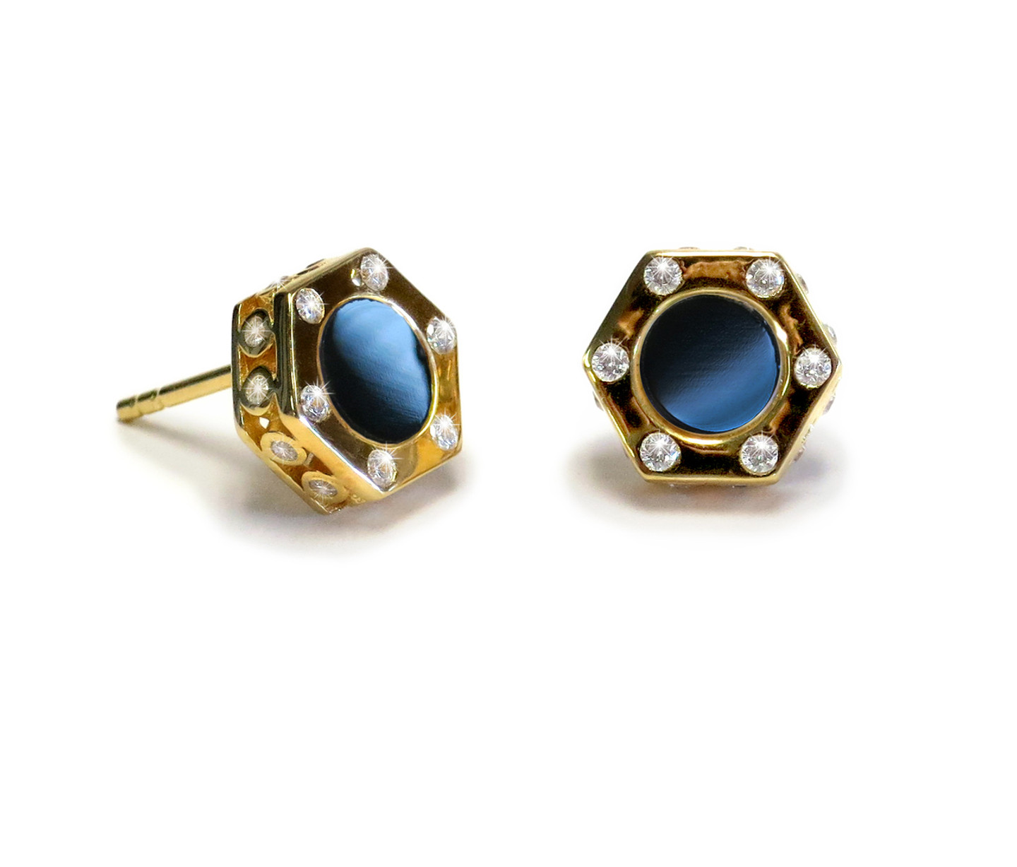 hills earrings onyx shipping gold watches today overstock black free jewelry product