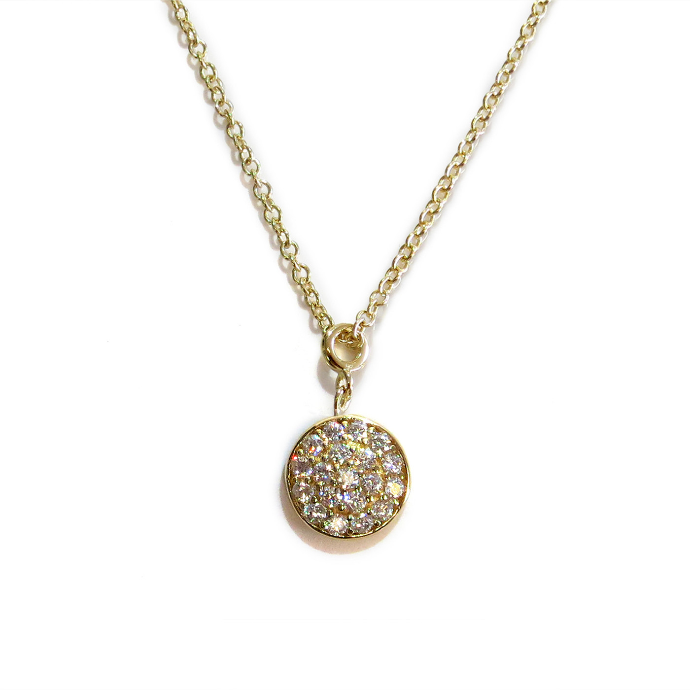 Delicate Solar Necklace Gold