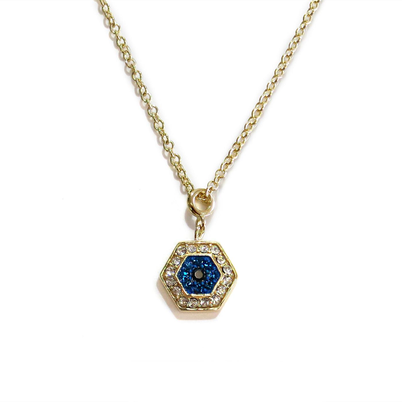 Gold Delicate Evil Eye Necklace Liza Schwartz