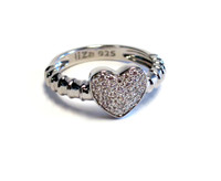 Touch My Heart Ring Silver