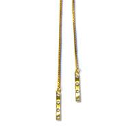 Tic Toc Lariat Necklace Gold