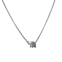 Silver Lucky Elephant Necklace