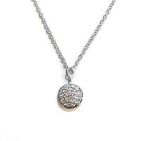 Delicate Solar Necklace Silver