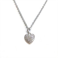 Delicate Heart Necklace Silver