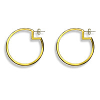 Large Pac-Man Hoops Gold
