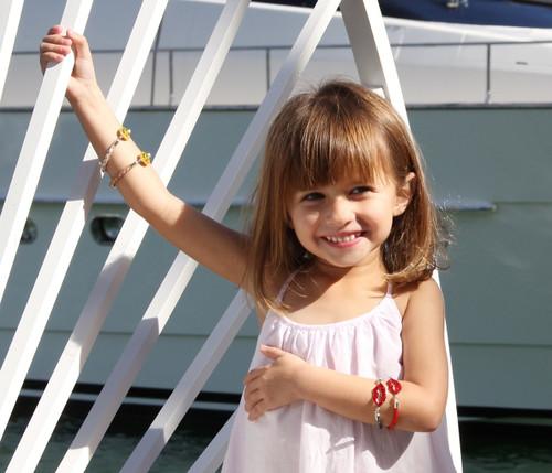"The ""Love Struck"" Smiley Bracelet: Kids"