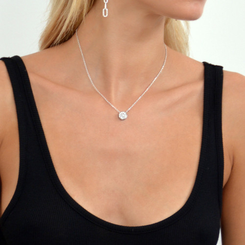 Touch Solar Necklace Silver