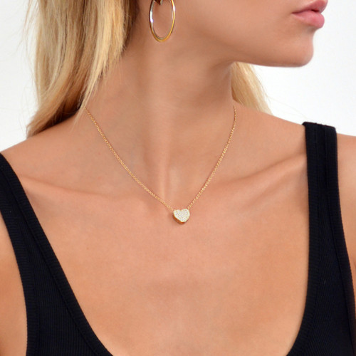 Touch My Heart Necklace Gold