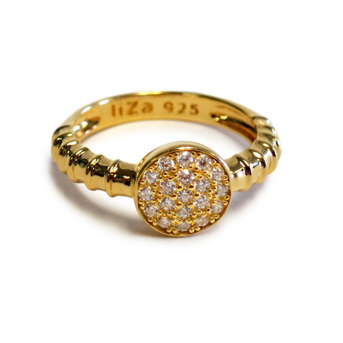 Touch Ring Stack Evil Eye Gold