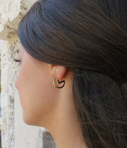 Gold Lunar Mooner Earrings