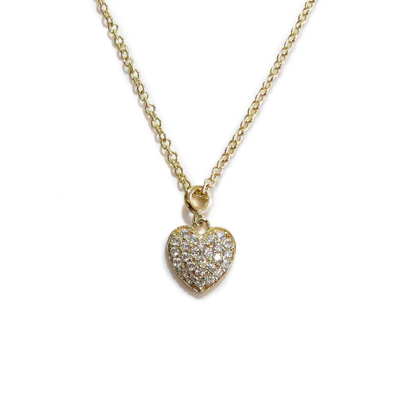 Gold Delicate Heart Necklace | Liza Schwartz
