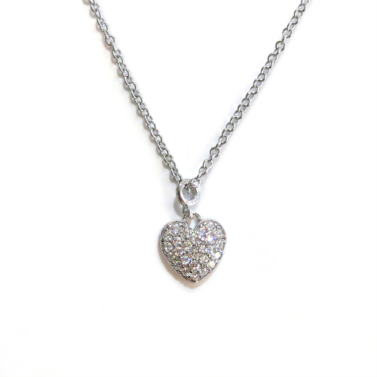 silver in hot double heart diamonds necklace amore image and jewellery diamond