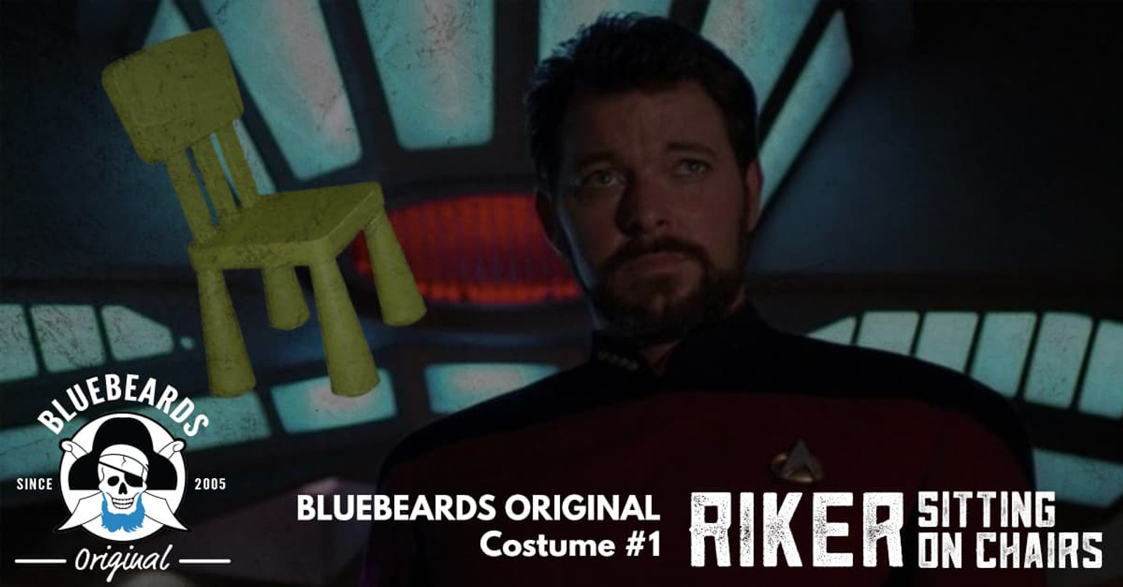 Number One: Make It So! A costume for the (short) bearded man