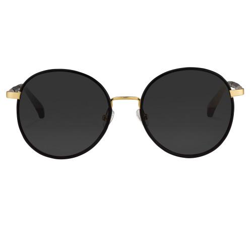 Gold Black-Black Leather