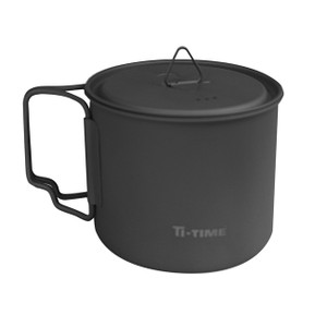 Lightweight titanium cup with lid, Marked down 20%