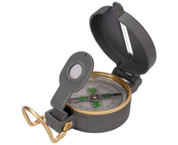 Solid Cased Metal Compass, Directional, Location, Hairline guide wire, precision, liquid filled