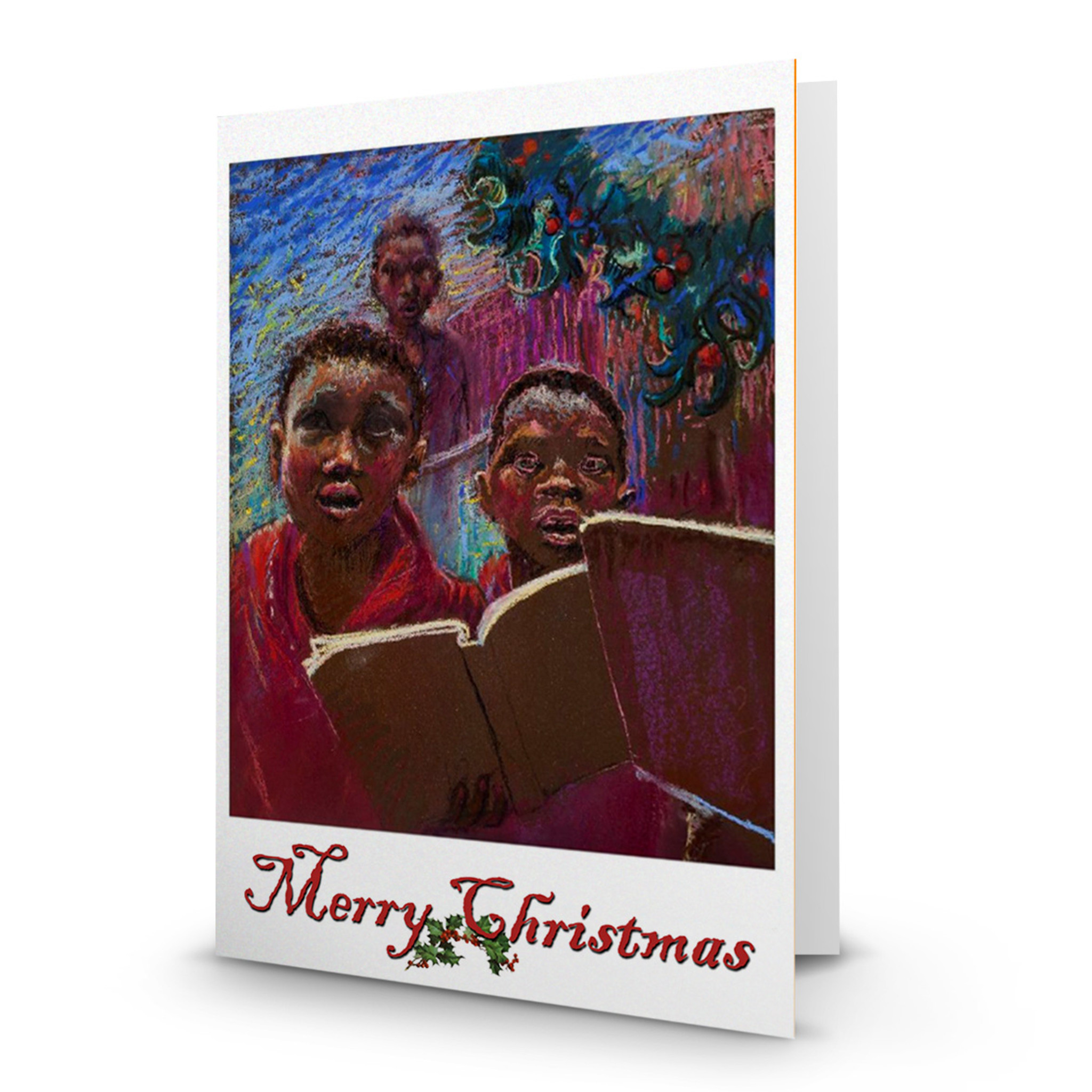 choir boys single artist christmas card ellen dreibelbis ed100