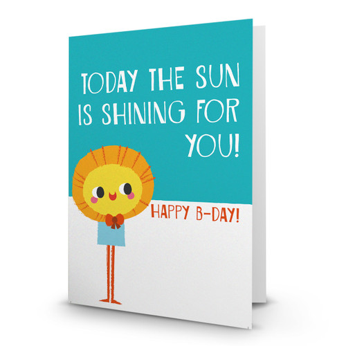 Happy Birthday - Today the Sun is Shining for You - AA100