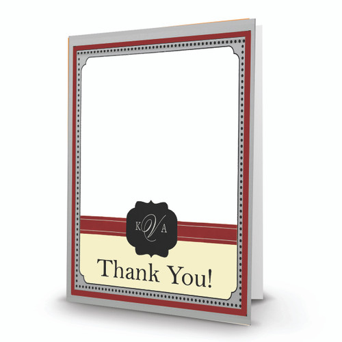 K & A Thank You Photo Card 23 Portrait, Folded - FSDM