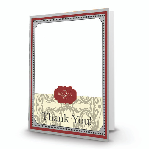 K & A Thank You Photo Card 24 Portrait Folded - FSDM