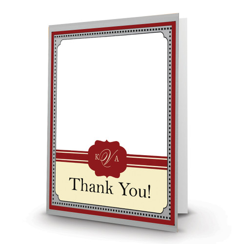 K & A Thank you Photo Card 25 Portrait, Folded - FSDM