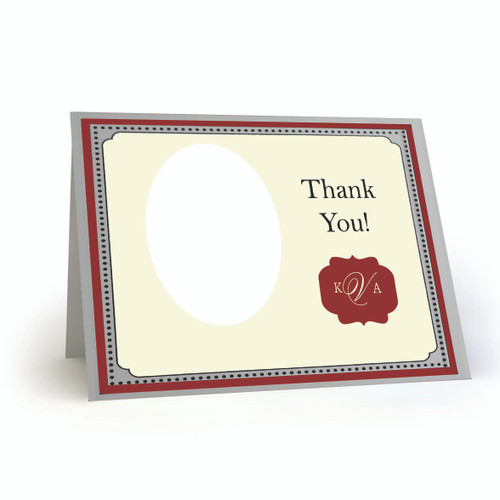 K & A Thank You Photo Card 08 Landscape Folded - BMTY