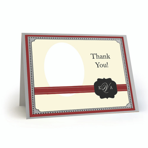 K & A Thank You Photo Card 21 Portrait, Folded - FSDM
