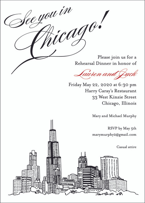 Graphic Skyline: Save The Date