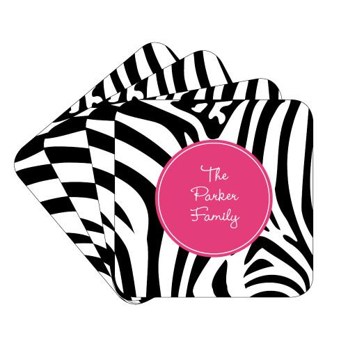 Zebra Coaster Set