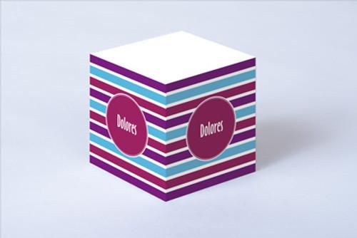 Cool Stripes Sticky Note Cube