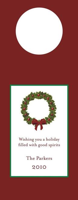 Wreath Wine Tag