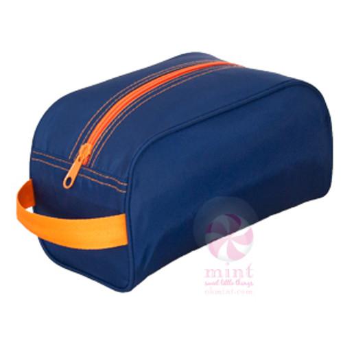 Navy and Orange Dopp Kit