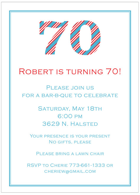 Stripe Birthday Invitation