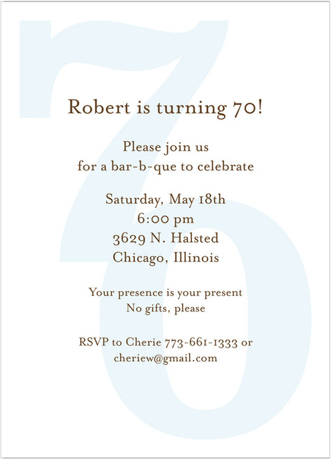 Bold Birthday Invitation