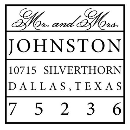 Johnston Self Inking Stamp