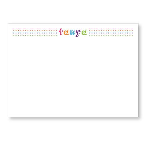 Rainbow Dots Flat Note