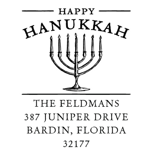 Hanukkah Self Inking Stamp
