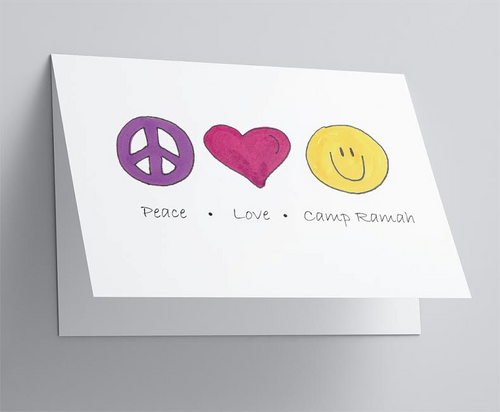 Peace Love Camp Folded Note