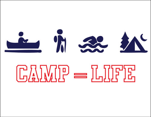 Camp Equals Life Postcard