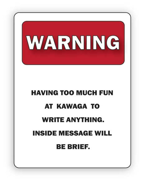 Camp Warning Sign Folded Note