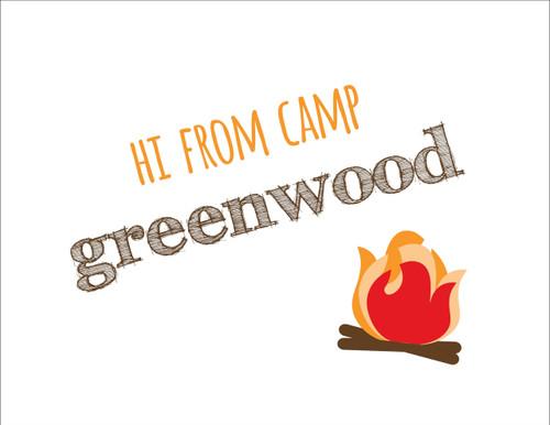 Hi From Camp Bonfire Folded Note