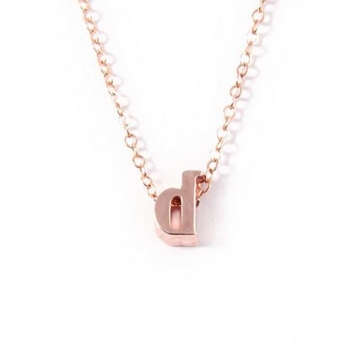 Saba Single Initial Necklace